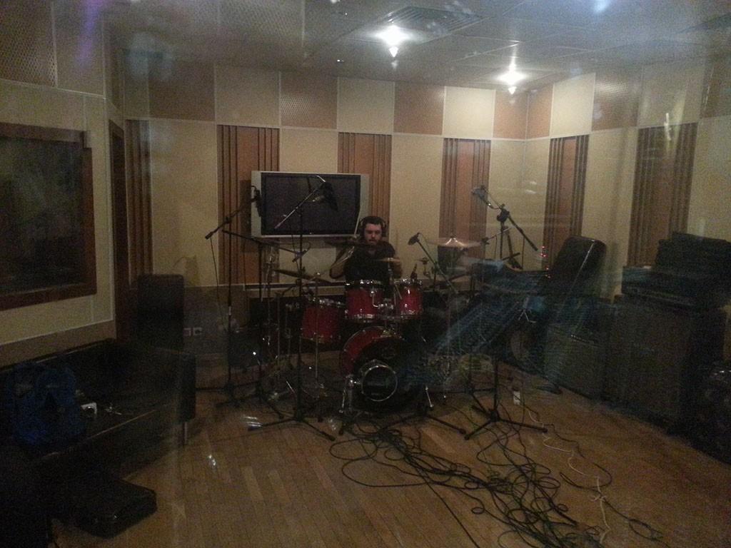 Wendigo 2015.05.02 - Запись барабанов для EP на студии Navajo Hut